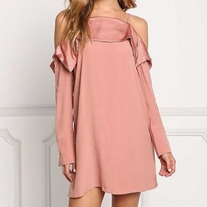 Mauve cold shoulder dress